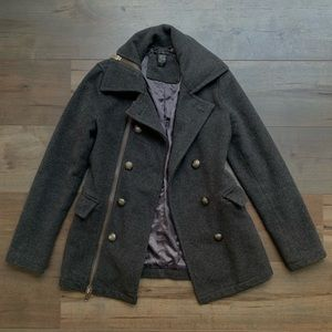 Forever 21 Wool Button Down Coat